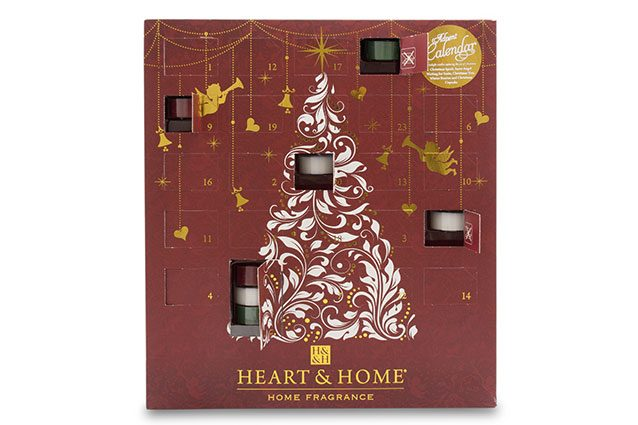 calendario dell'avvento con mini candele Heart&Home