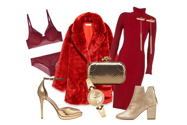 2aa1da499108 Abiti rossi e accessori oro: ecco come creare un look trendy per le feste