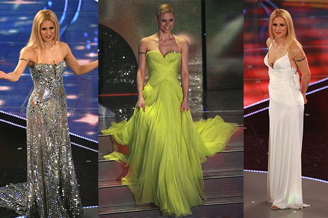 check out cd53a 38393 I look di Michelle Hunziker a Sanremo: com'era sul palco del ...