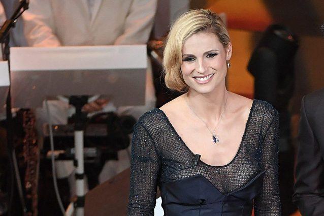 I look di Michelle Hunziker per la terza serata di Sanremo 2018 c8a8e4795a2