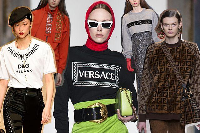 da sinistra Dolce e Gabbana, Trussardi, Versace, John Richmond, Fendi