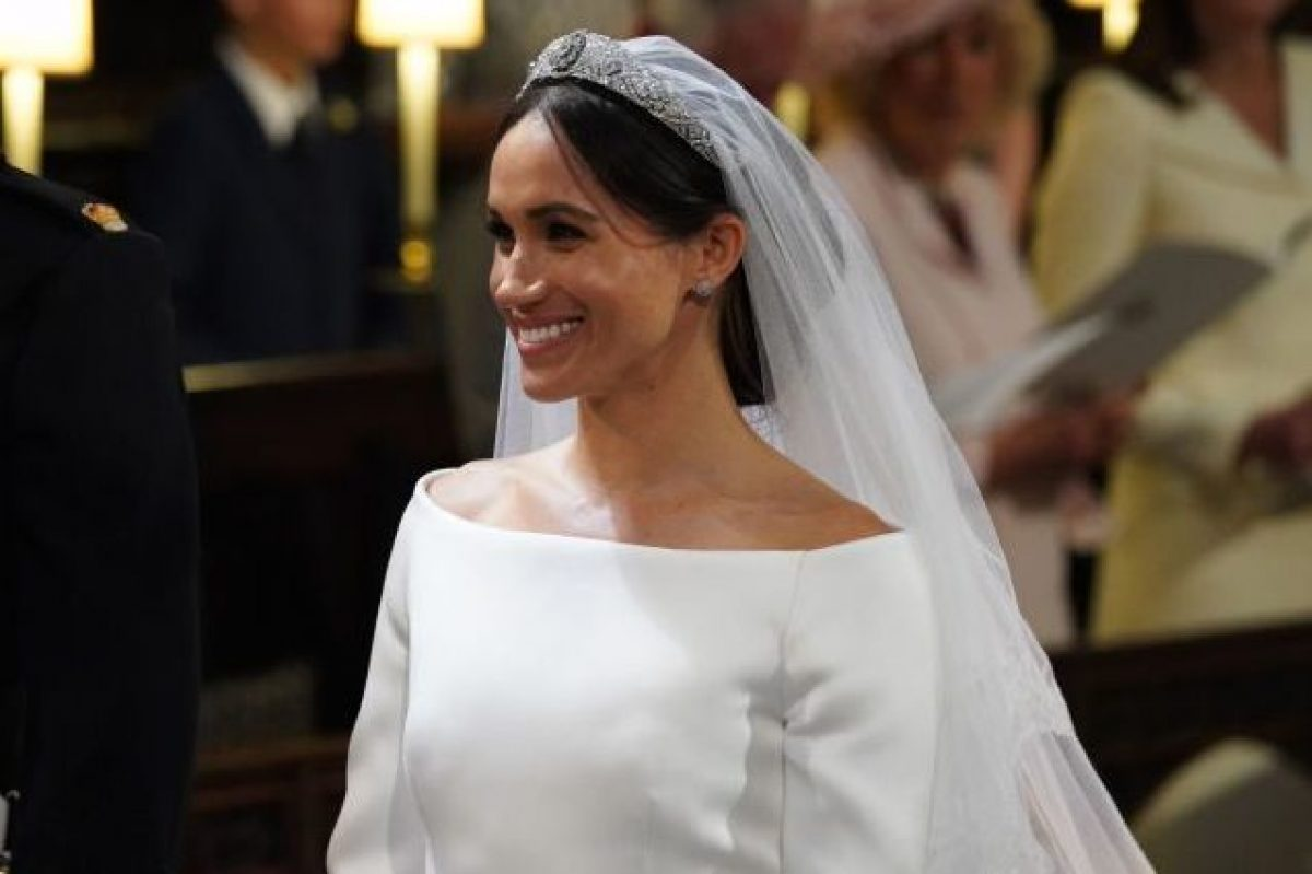 0bc2a0af5844 Meghan Markle due volte in bianco  ecco l abito da sposa del suo primo  matrimonio
