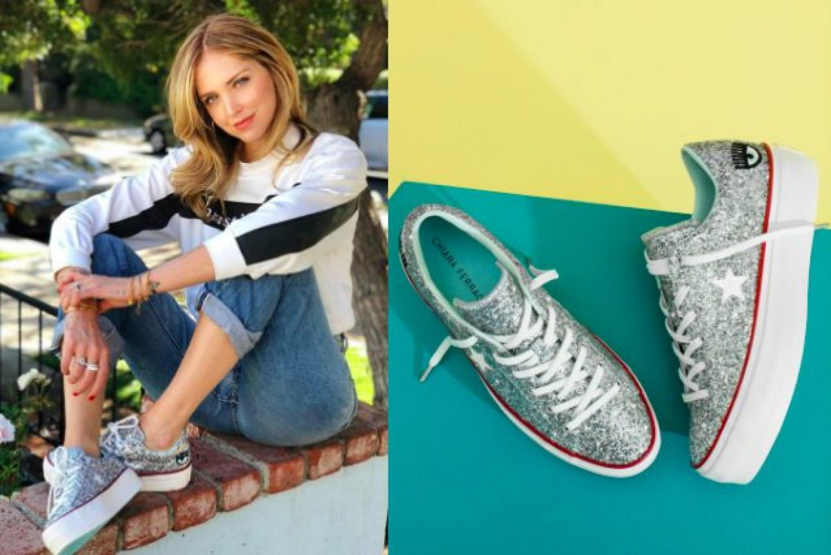 scarpe chiara ferragni converse alte