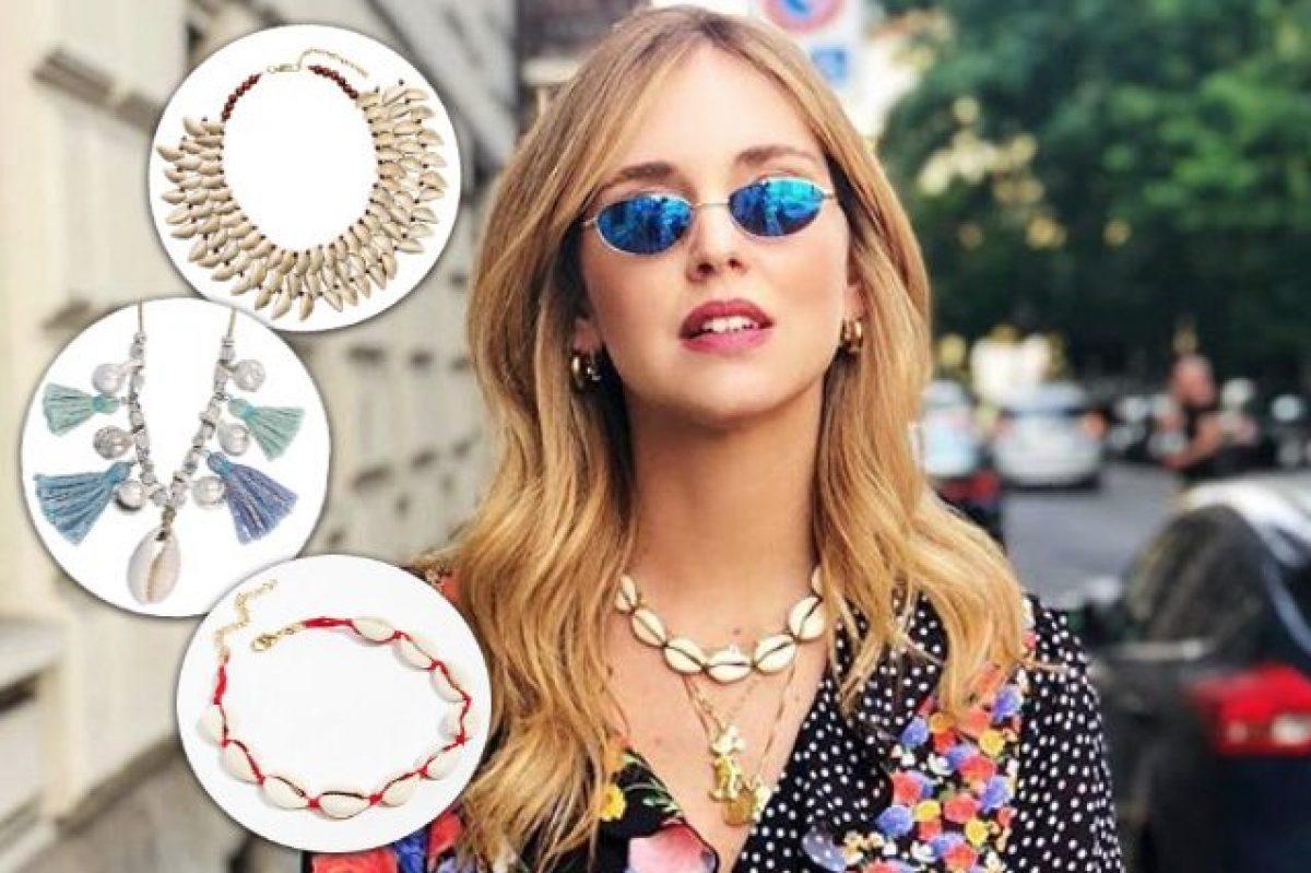 c3175c401557 Il ritorno dei gioielli con le conchiglie: collane, orecchini e cavigliere per  l'estate 2018
