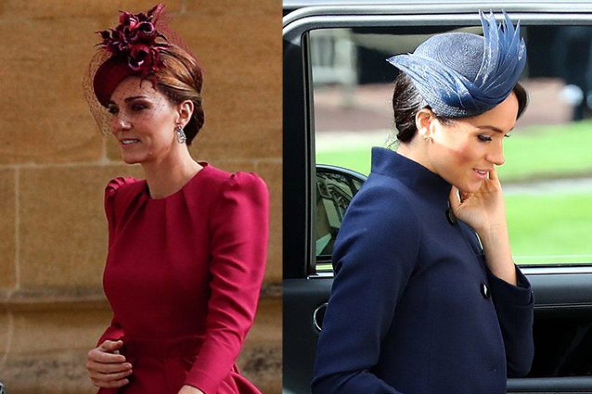 reputable site 92318 d9811 Meghan Markle in blu, Kate Middleton in fucsia: le ...