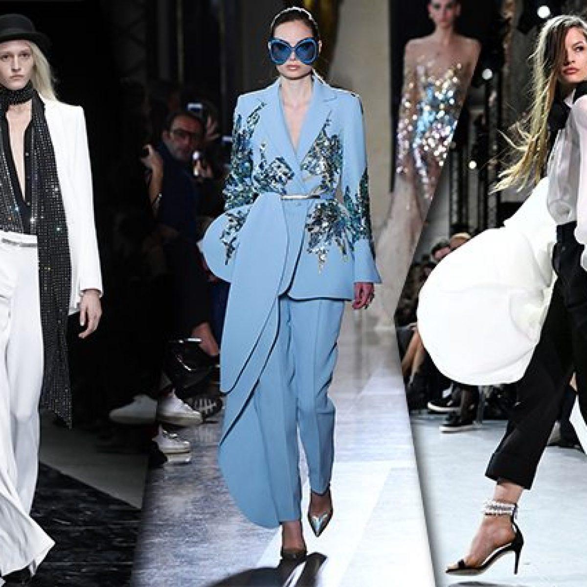 50ae54723a3a Addio gonne da principessa  i pantaloni diventano couture alle sfilate di  Parigi