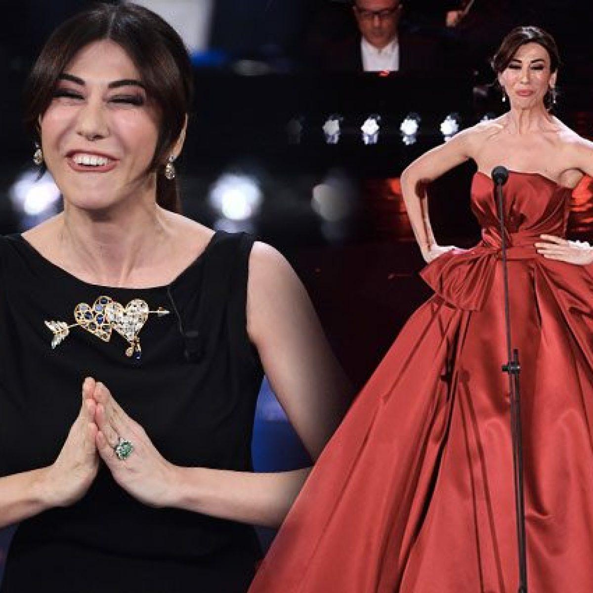 20fec8b50a9e Virginia Raffaele a Sanremo 2019  50 sfumature di nero… con un po  di rosso