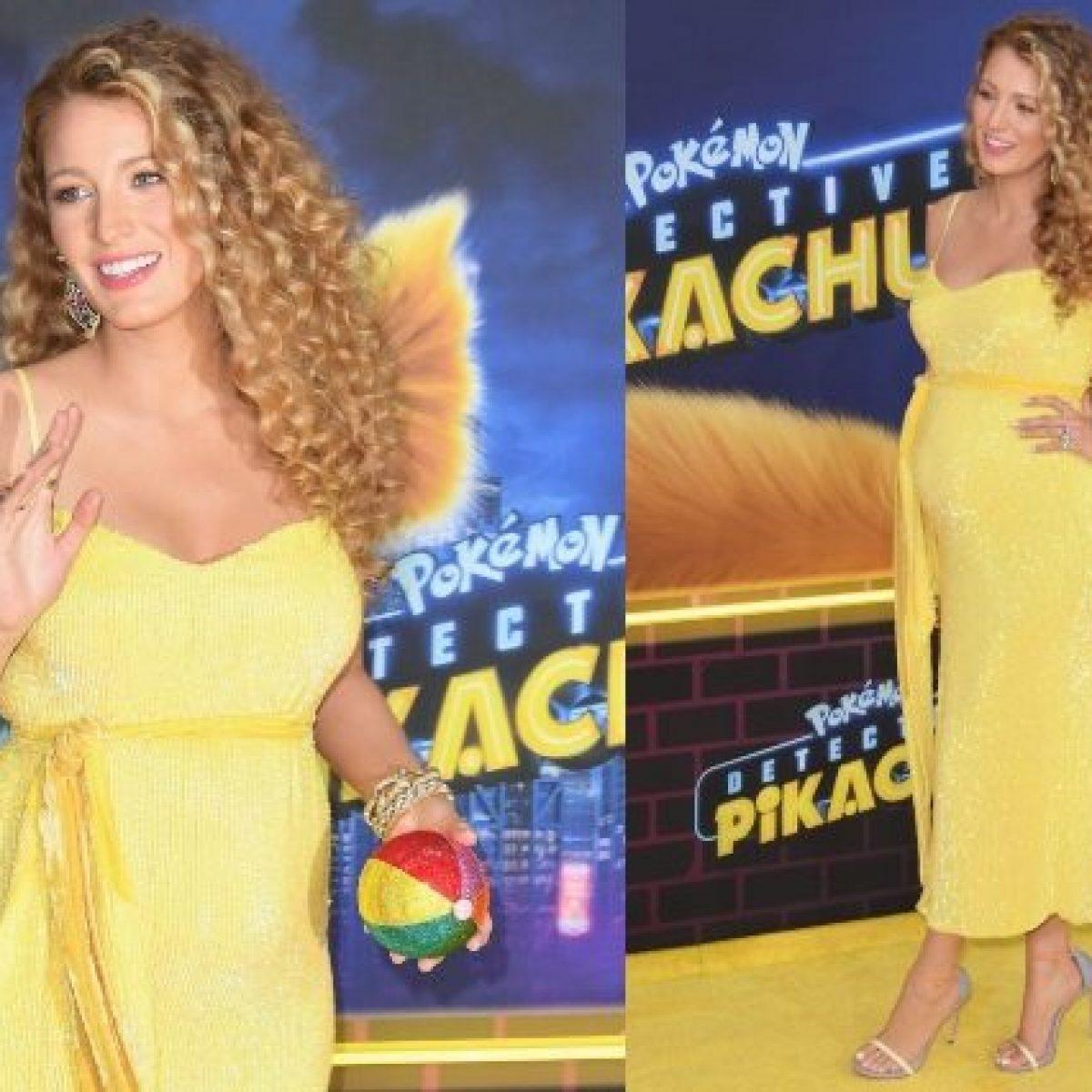 ea50a1ea50d7 Blake Lively meravigliosa col pancione  sul red carpet con l abito giallo  rivela di essere incinta