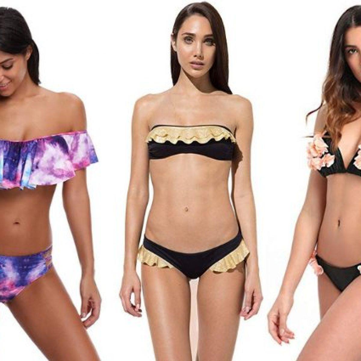 723a63d789 Costumi per seno piccolo 2019: i modelli di bikini push up, le fasce e i  costumi interi