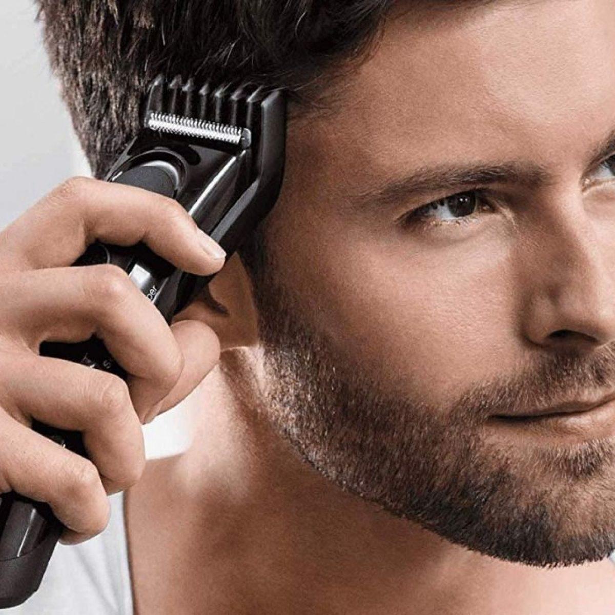 Remington Rifinitore Viso Lame in Acciaio con Accessori Grigio capelli barba