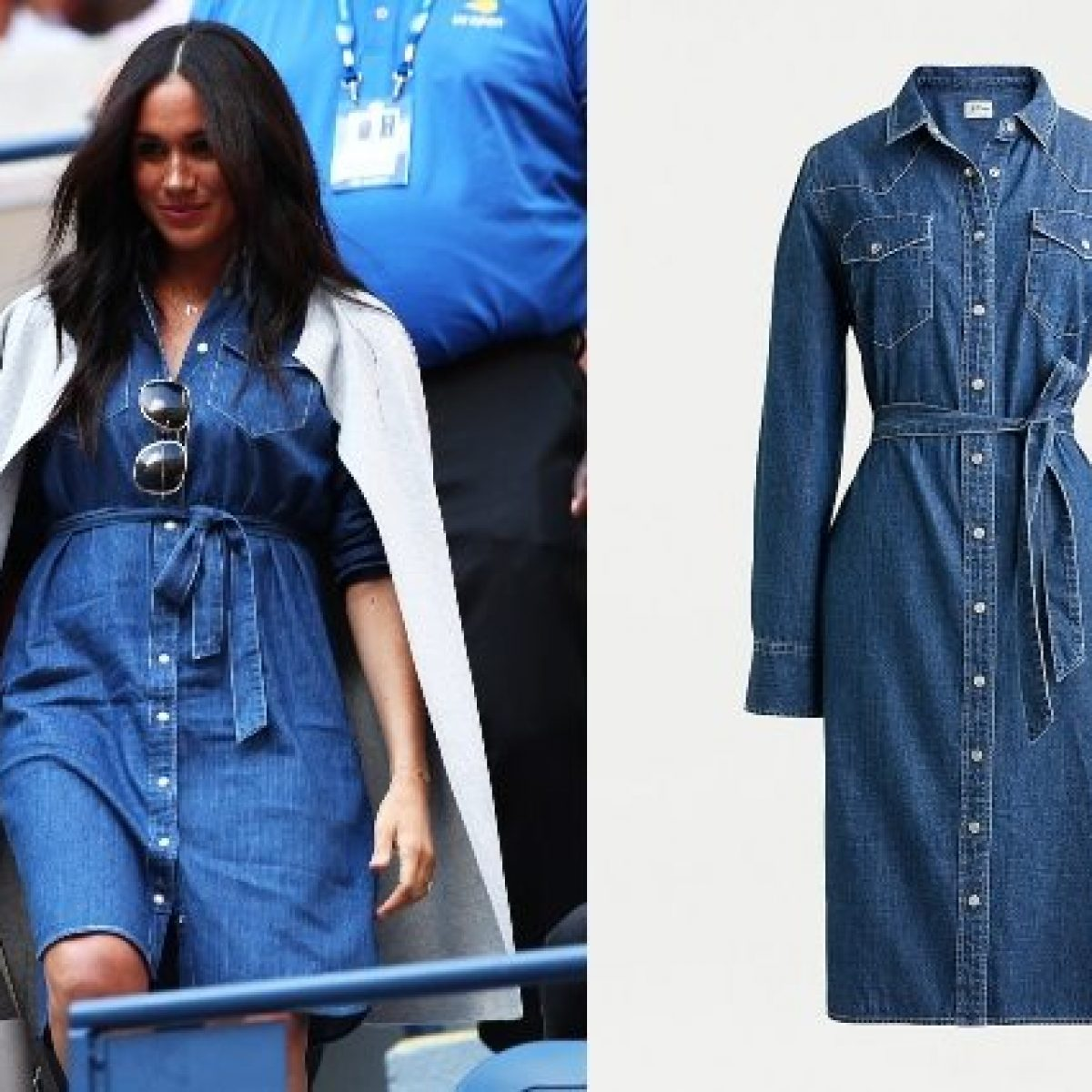 meet 05b74 fd230 Meghan Markle: l'abito di jeans va in sold-out, viene ...