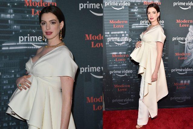 """Anne Hathaway incinta è più bella che mai, """"nasconde"""" il pancione ..."""