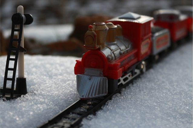 Locomotiva da costruire trenino in legno colorato Giocattolo bambini