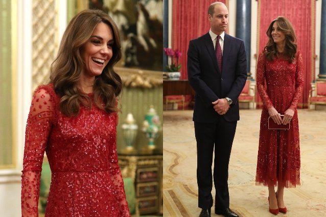 Kate Middleton cambia stile |  addio colori pastello |  ora osa in rosso fuoco e con le