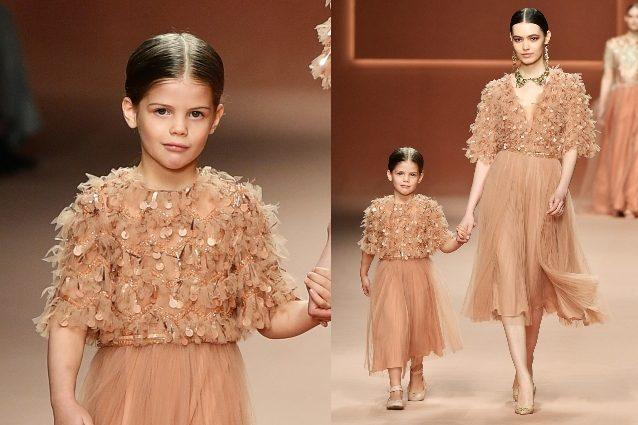 La figlia di Wanda Nara debutta in passerella, a 5 anni Fran