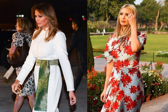 Melania in abiti tradizionali, Ivanka ricicla il look a fior