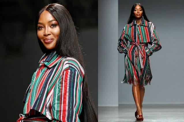 Naomi Campbell con i capelli lunghissimi: cambia look per il
