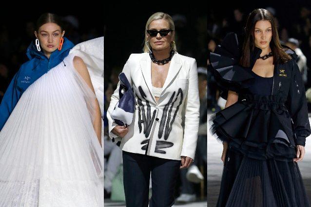 Off White sfila a Parigi: Bella e Gigi Hadid per la prima vo