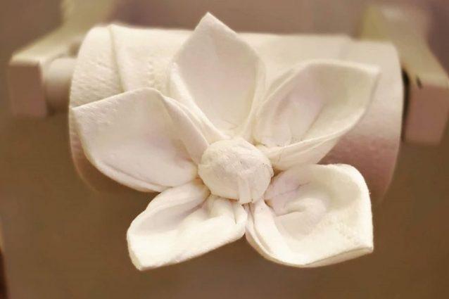 Origami con la carta igienica: è la mania più originale dell