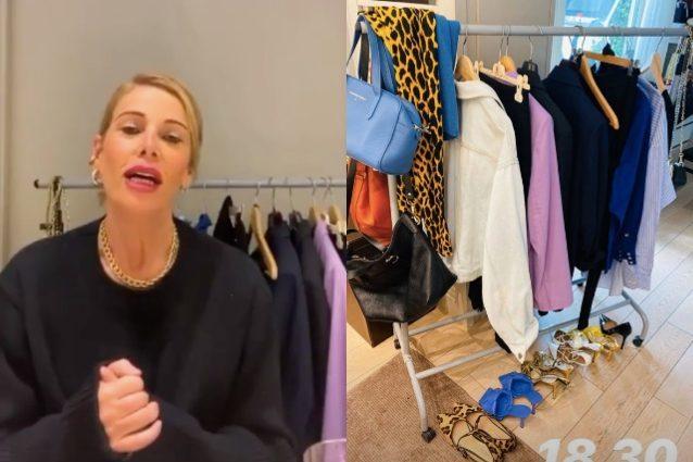 Alessia Marcuzzi spiega come ordinare l'armadio: i consigli