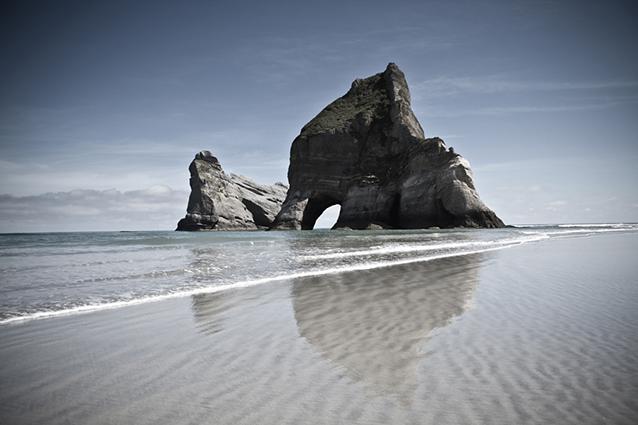 Wharariki Beach, Nuova Zelanda.