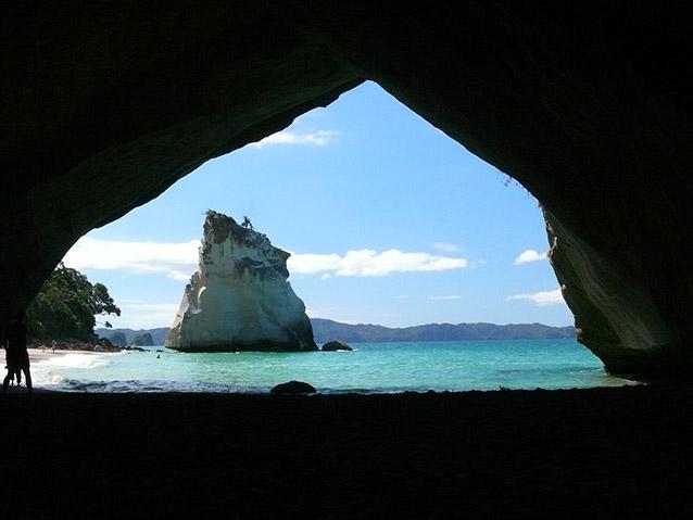 Cathedral Cove, Nuova Zelanda.