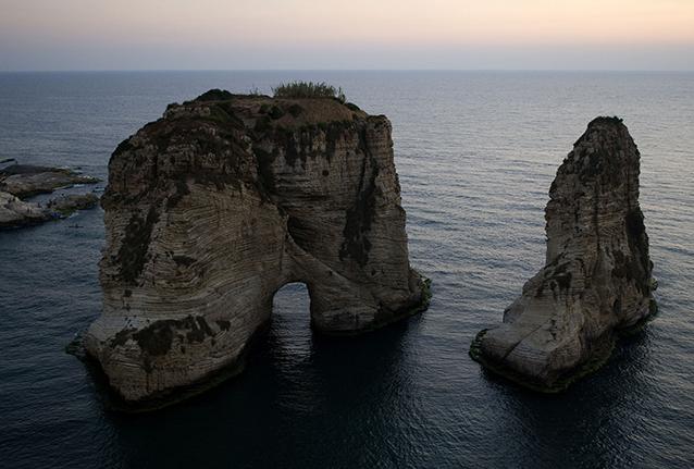 Pigeon's Rock, Libano.
