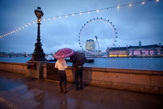 London Eye di sera