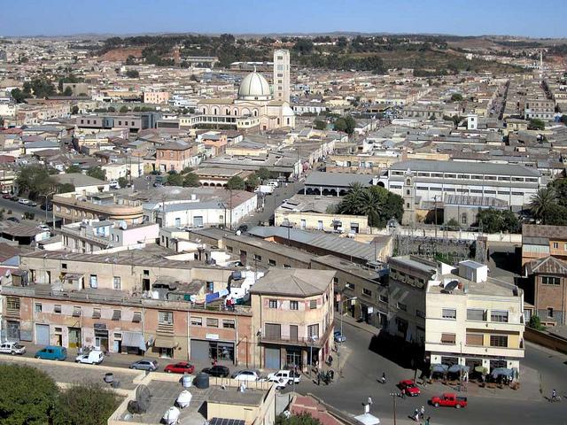 Asmara, panorama dalla cattedrale