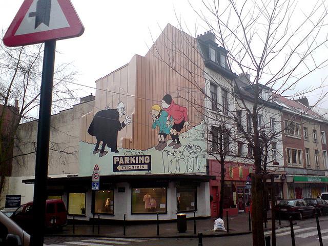 Hergé, murales del fumetto a Bruxelles