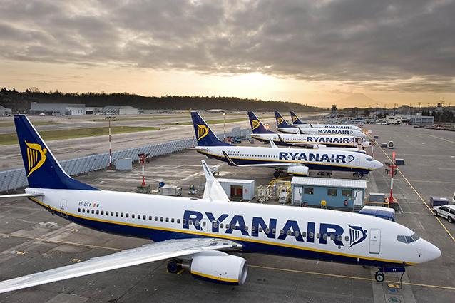 Flotta Ryanair (Foto Uff. stampa).
