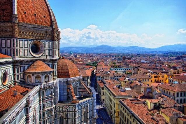 Vista dal Duomo di Firenze. Foto da Flickr