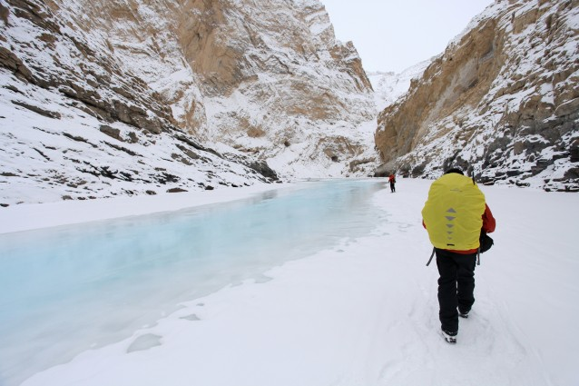 Il sentiero di ghiaccio sul fiume Zanskar in India
