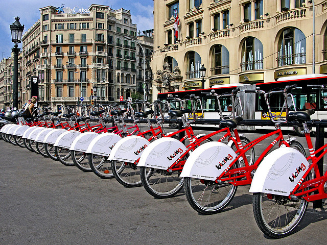 Bici a Barcellona – Foto Michael Summers