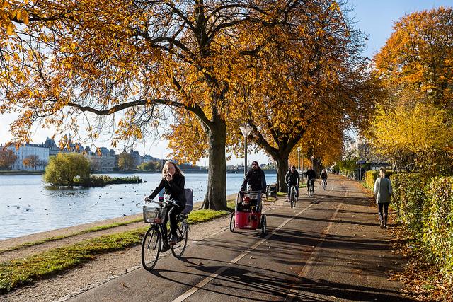 In bici a Copenaghen – Foto Kristoffer Trolle