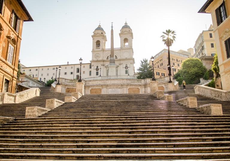 Roma, scalinata di Trinità dei Monti, Piazza di Spagna