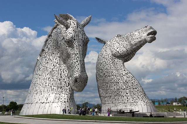 The Kelpies, Helix Park, Falkirk, Scozia – Foto Wikipedia