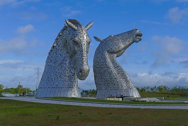 The Kelpies, Helix Park, Falkirk, Scozia – Foto di Leo Reynolds