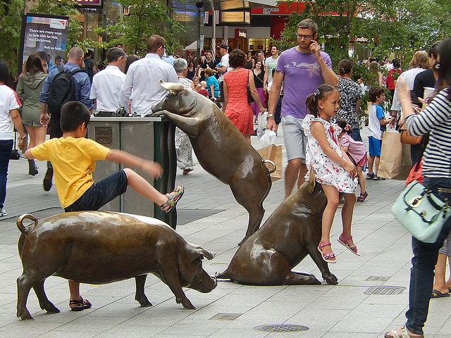 Rundle Mall Pigs, Adelaide – Credits: Michael Coghlan