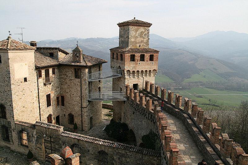 Castello di Vigoleno. Foto da Wikipedia