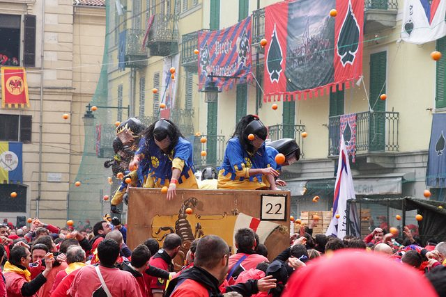 Carnevale di Ivrea. Foto di Carmelo Speltino