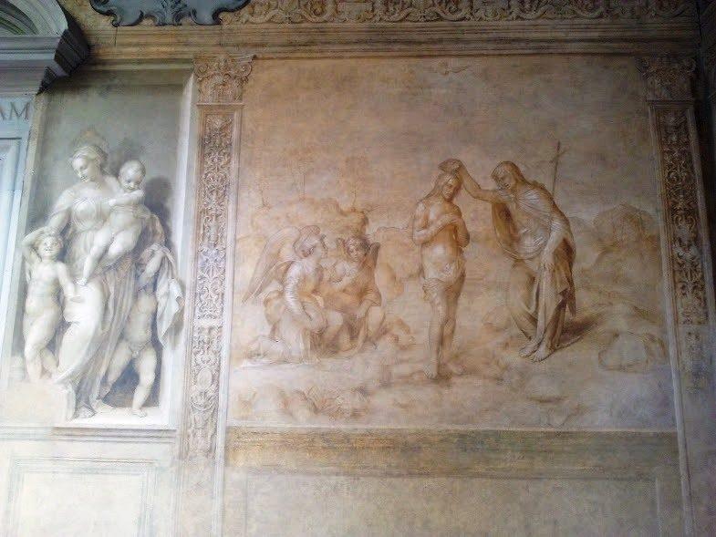 Andrea del Sarto, Carità e Battesimo di Cristo