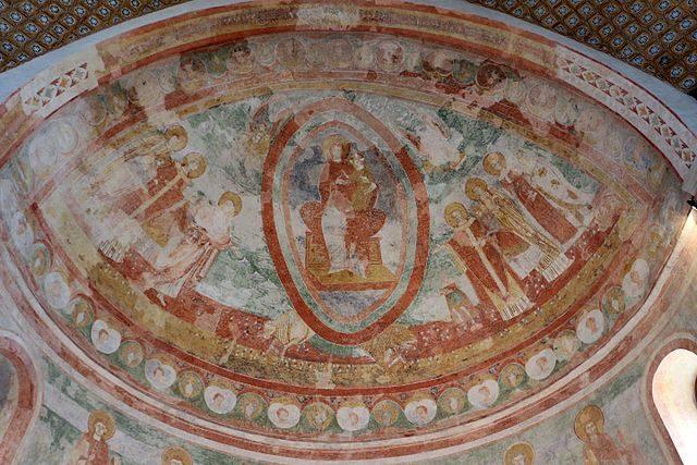 Affreschi absidali della Basilica di Aquileia – Foto Wikimedia Commons