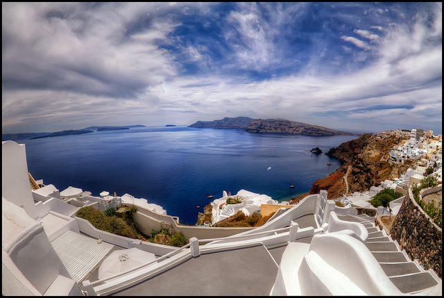 Santorini. Foto di Pedro Szekely