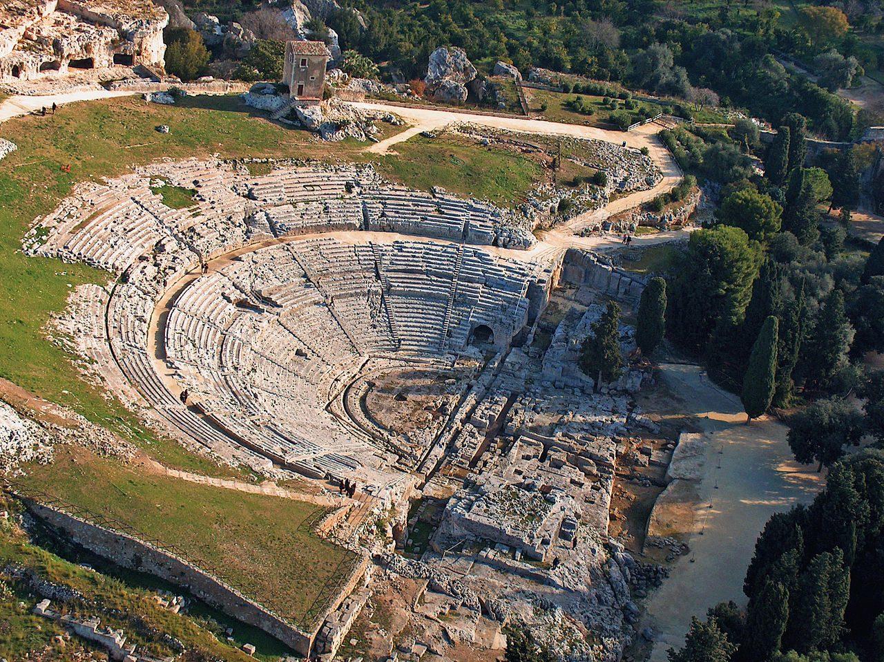 Teatro Greco, Siracusa. Foto da Wikipedia