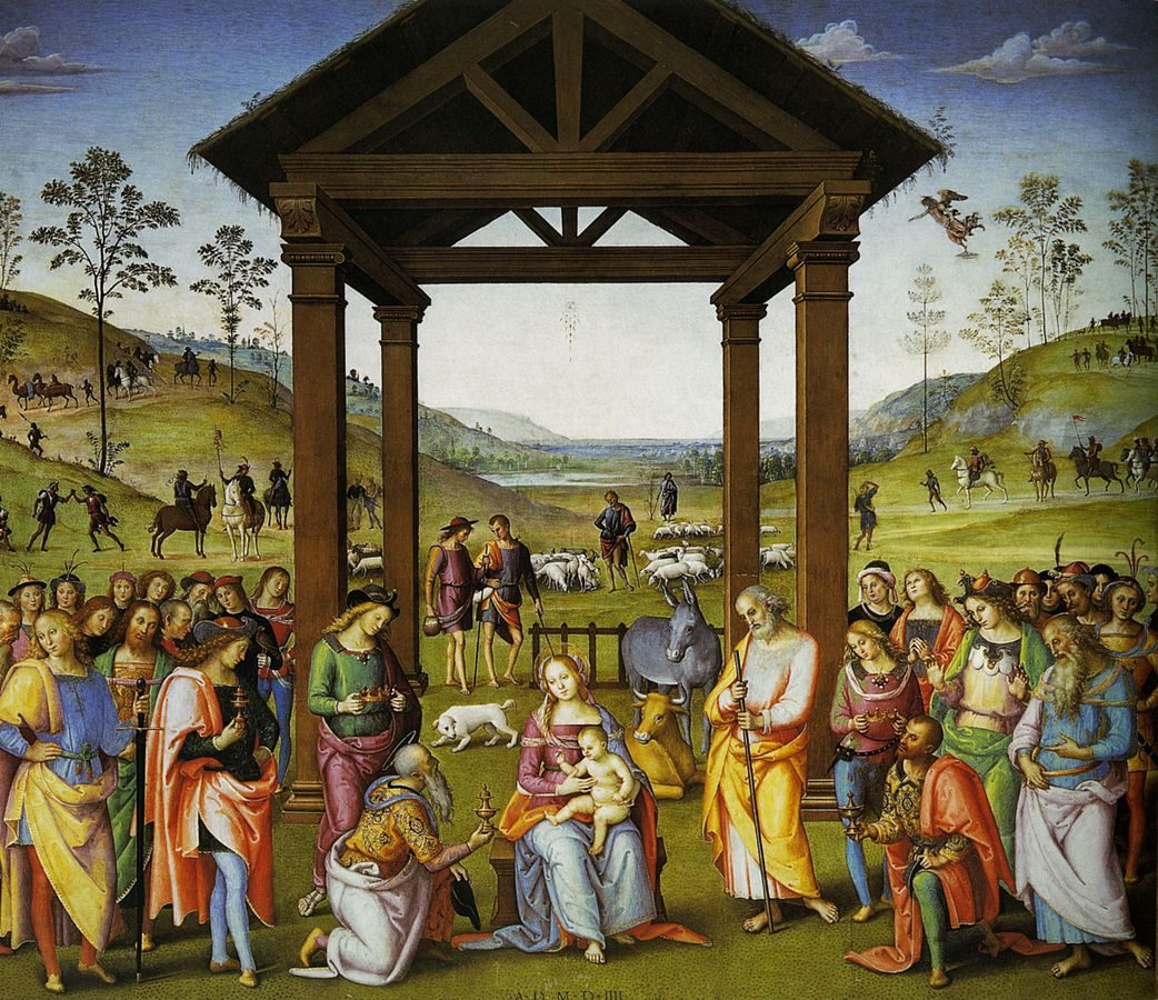 Pietro Perugino, Adorazione dei Magi, Oratorio di Santa Maria dei Bianchi – Foto Wikipedia