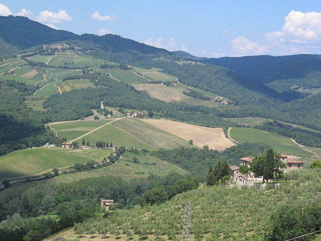 Radda in Chianti, panorama (Foto Wikimedia Commons)