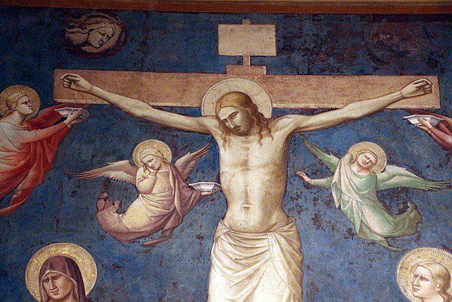 Taddeo Gaddi, Crocifissione (dettaglio) – Foto Wikimedia Commons