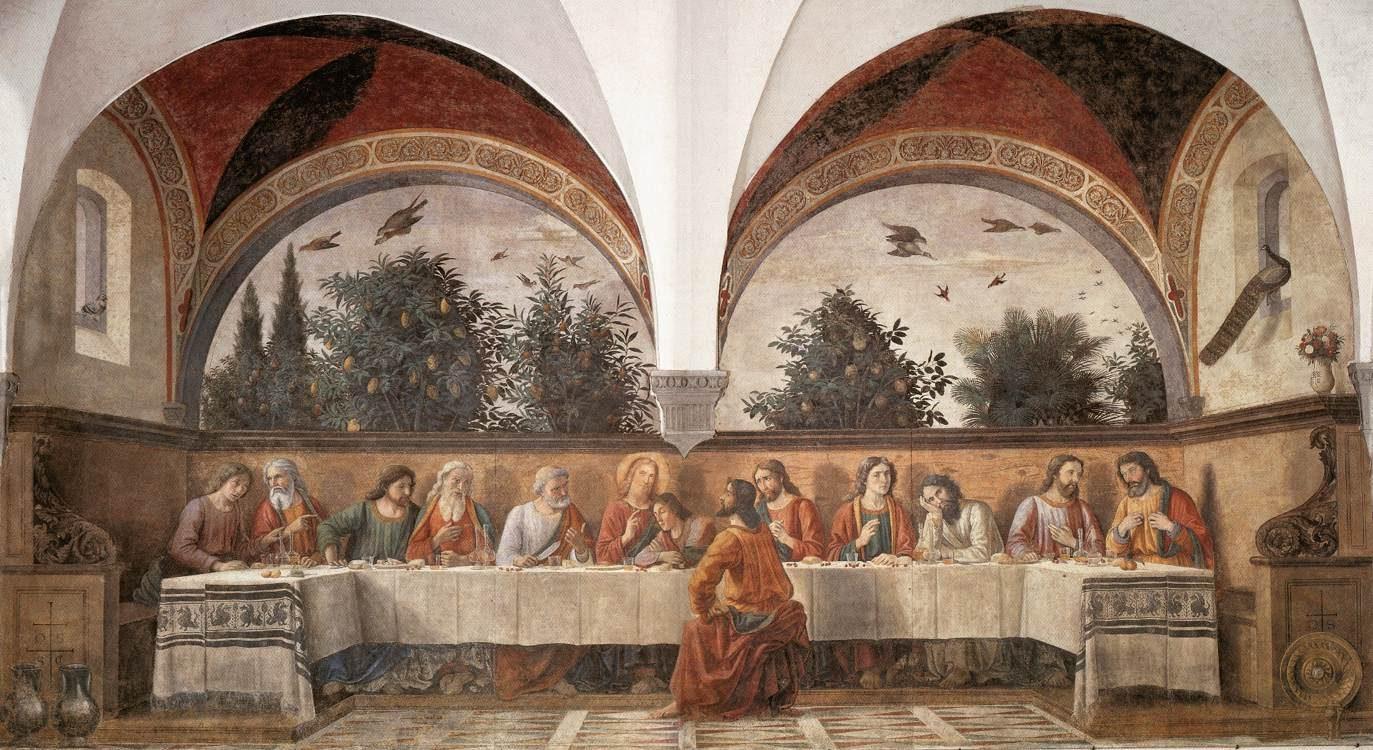 Domenico Ghirlandaio, Cenacolo di Ognissanti – Foto Wikipedia