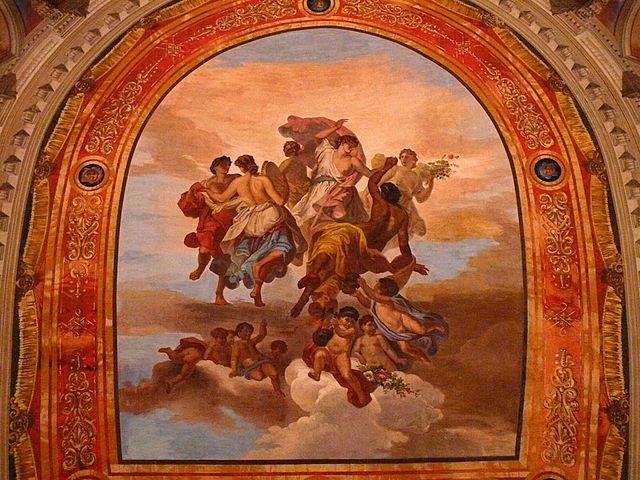 Affresco nel teatro di Bevagna – Foto Wikipedia